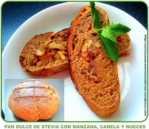 pan de manzana canela y nueces